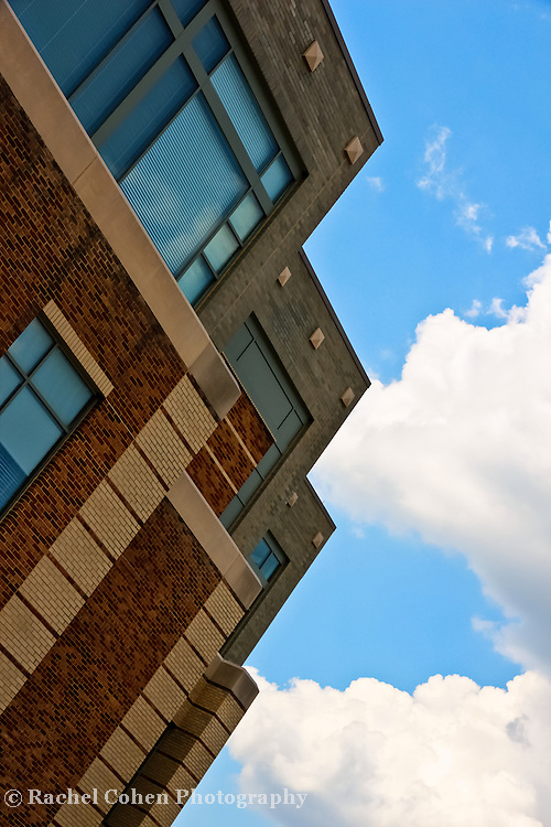 """""""Into the Clouds""""<br /> <br /> Library building against the sky. Eastern Michigan University"""