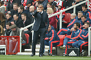 Brighton Manager, Chris Hughton  during the Sky Bet Championship match between Middlesbrough and Brighton and Hove Albion at the Riverside Stadium, Middlesbrough, England on 7 May 2016. Photo by Simon Davies.