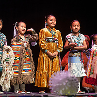 Tiny Tot contestants are brought on stage to announce the winners Monday evening at the Tiny Tot Pageant in Gallup.