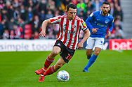 George Honeyman of Sunderland (10) in action during the EFL Sky Bet League 1 first leg Play Off match between Sunderland and Portsmouth at the Stadium Of Light, Sunderland, England on 11 May 2019.