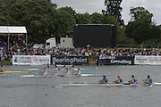 2005 FISA World Cup, Dorney Lake, Eton, ENGLAND, 28.05.05. Legends reenactment of the 2000 Sydney final for men's fours, also presentation on the awards dock..Photo  Peter Spurrier. .email images@intersport-images....[Mandatory Credit Peter Spurrier/ Intersport Images] Rowing Course, Dorney Lake