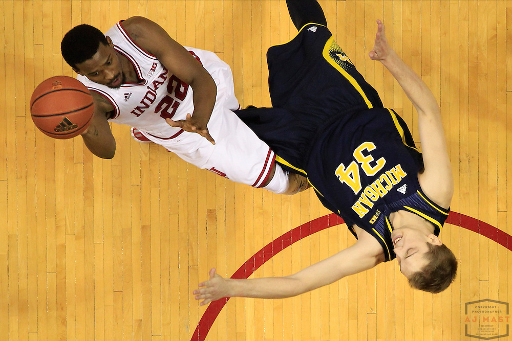 Indiana guard Stanford Robinson (22) as Michigan played Indiana in an NCCA college basketball game in Bloomington, Ind., Sunday, Feb. 8, 2015. (AJ Mast / Photo))