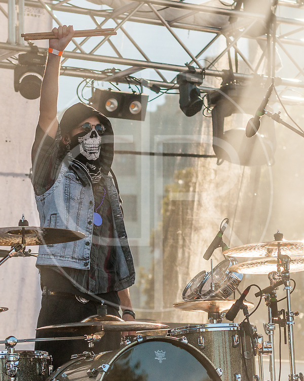 BALTIMORE United States - September 27, 2014: Arejay Hale of Halestorm, performs at The Shindig, in Baltimore's historic Carroll Park