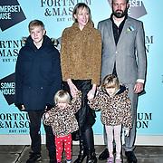 Jade Parfitt, Jack Dyson arrivers Skate at Somerset House with Fortnum & Mason Launch party, London, Somerset House, 12 November 2019, London, UK.