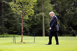 October 10, 2018 - Washington, District of Columbia, U.S. - United States President Donald J. Trump departs the South Lawn of the White House, Washington, DC, October 10, 2018, to attend a Make America Great Again rally in Erie, Pennsylvania  (Credit Image: © Martin H. Simon/CNP via ZUMA Wire)