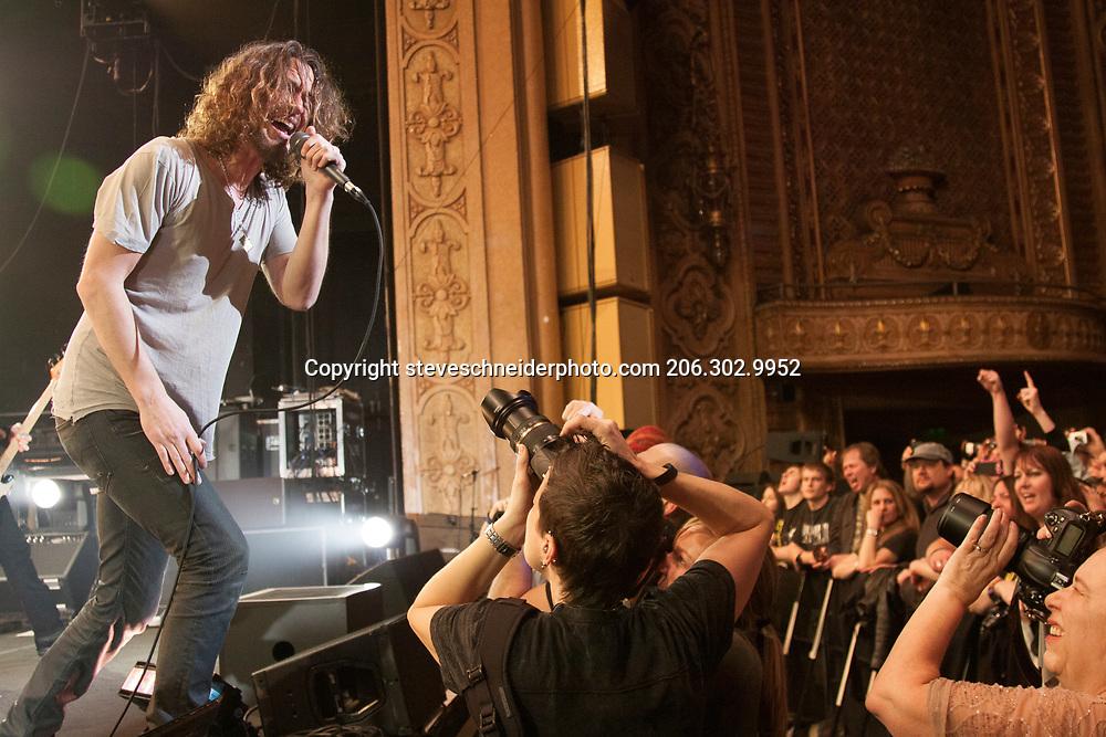 Soundgarden plays the Paramount Theater, Seattle, WA on 2-7-2013.