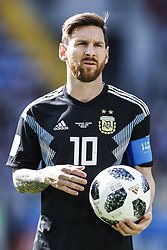 Lionel Messi of Argentina during the 2018 FIFA World Cup Russia group D match between Argentina and Iceland at the Spartak Stadium on June 16, 2018 in Moscow, Russia.