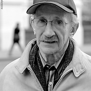 Philip Levine was selected by the Library of Congress in 2011 to become the 18th United States Poet Laureate. He is a previous recipient of the Pulitzer Prize, National Book Award and National Book Critics Circle Award. Photographed here in New York City, circa 2001.