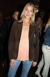 MRS SEB BISHOP she was model Heidi Wichlinski at the opening party for the new BECCA cosmetics store at 91a Pelham Street, London SW7 on 19th May 2005.<br /><br />NON EXCLUSIVE - WORLD RIGHTS