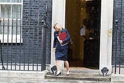 London, June 27th 2017. Education Secretary Justine Greening leaves the weekly UK cabinet meeting at 10 Downing Street in London.
