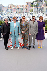 "Sir Elton John, director Dexter Fletcher, actress Bryce Dallas Howard, actors Taron Egerton and Richard Madden, David Furnish and Bernie Taupin attending ""Rocketman"" photocall at 72nd Cannes film Festival. 16 May 2019 Pictured: Elton John, Dexter Fletcher, Taron Egerton, Richard MAdden, Bryce Dallas Howard. Photo credit: maximon / MEGA TheMegaAgency.com +1 888 505 6342"
