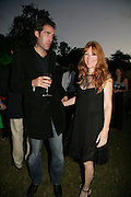 charlie Forbes and Charlotte Tilbury, QUINTESSENTIALLY AND ELEPHANT FAMILY TRUNK SHOW PARTY. SERPENTINE PAVILION, HYDE PARK. 16 SEPTEMBER 2007. -DO NOT ARCHIVE-© Copyright Photograph by Dafydd Jones. 248 Clapham Rd. London SW9 0PZ. Tel 0207 820 0771. www.dafjones.com.