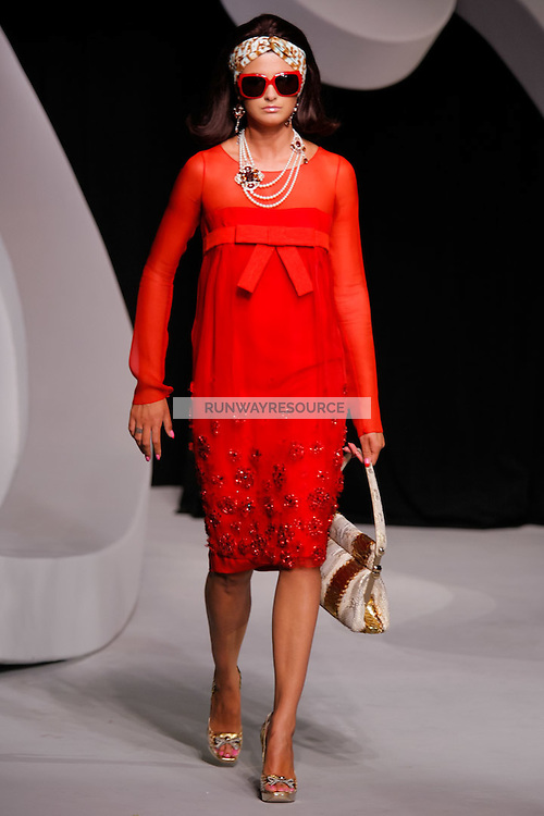 Trish Goff walks the runway  at the Christian Dior Cruise Collection 2008 Fashion Show