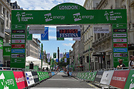 General view of the Finish Line ahead of  the OVO Energy Women's Tour, London Stage, at Regent Street, London, United Kingdom on 11 June 2017. Photo by Martin Cole.