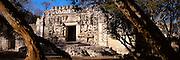 MEXICO, MAYAN, YUCATAN Hochob; 'Chac' (Rain God) facade