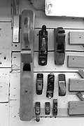 Zurich, SWITZERLAND, Wednesday, 01/06/2016, Stämpfli Racing Boats, Factory, Workshops beside Lake Zurich,<br /> Various Hand Planes, Scraping tools,<br /> <br /> [Mandatory Credit; Peter SPURRIER/Intersport-images] , Boat and Oar / Blade, Making, Building, Construction,