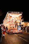 Colosseum by Gemini CC at North Petherton Guy Fawkes Carnival 2010. Portrait view suitable for magazine cover.