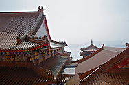 Walk all the way to the back of the Wenwu Temple and up the stairs to the left or right for this nice view of Sun Moon Lake.