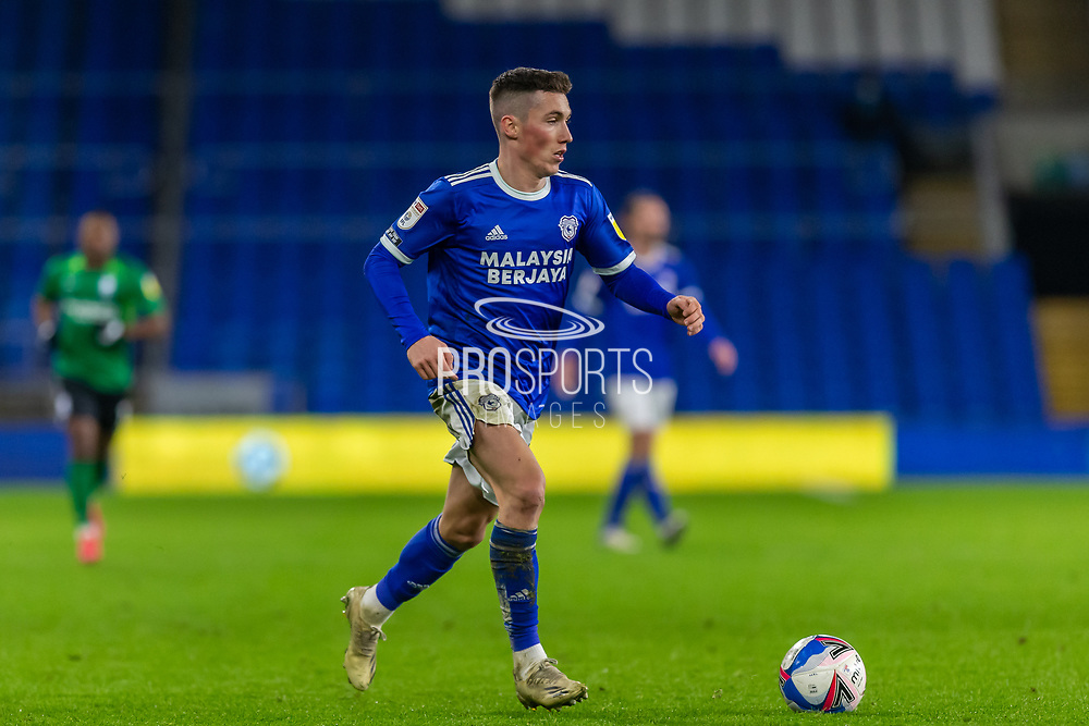 Cardiff City's Harry Wilson (23) in action during the EFL Sky Bet Championship match between Cardiff City and Birmingham City at the Cardiff City Stadium, Cardiff, Wales on 16 December 2020.