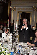 PROFESSOR MIKHAIL PIOTROVSKY; , Professor Mikhail Piotrovsky Director of the State Hermitage Museum, St. Petersburg and <br /> Inna Bazhenova Founder of In Artibus and the new owner of the Art Newspaper worldwide<br /> host THE HERMITAGE FOUNDATION GALA BANQUET<br /> GALA DINNER <br /> Spencer House, St. James's Place, London<br /> 15 April 2015