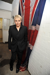 NICK RHODES at the opening of his pop up shop at 35 South Audley Street, London W1 on 19th September 2009.