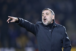 January 10, 2018 - Tubize, BELGIUM - Tubize's new head coach Christian Bracconi reacts during a soccer game between AFC Tubize and Beerschot-Wilrijk, in Tubize, Wednesday 10 January 2018, on day 19 of the division 1B Proximus League competition of the Belgian soccer championship. The game was postponed because of bad weather conditions on December 10th. BELGA PHOTO JOHN THYS (Credit Image: © John Thys/Belga via ZUMA Press)
