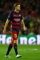 Gerard Gumbau of FC Barcelona during the UEFA Champions League Group E football match between FC Barcelona and Bate Borisov on November 4, 2015 at Camp Nou stadium in Barcelona, Spain. <br /> Photo Manuel Blondeau/AOP.Press/DPPI