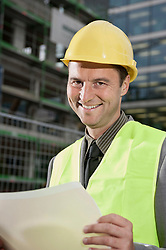 Site manager working at a construction site