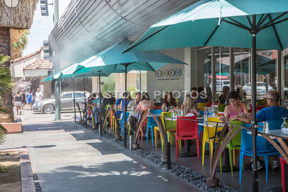 Lulu California Bistro Downtown Palm Springs on Palm Canyon Drive