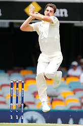 File photo dated 23-11-2017 of Australia's Pat Cummins bowls during day one of the Ashes Test match at The Gabba, Brisbane.