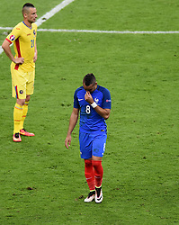 An emotional Dimitri Payet of France is substituted  - Mandatory by-line: Joe Meredith/JMP - 10/06/2016 - FOOTBALL - Stade de France - Paris, France - France v Romania - UEFA European Championship Group A