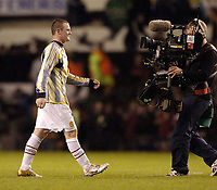 Photo. Jed Wee.Digitalsport<br /> Manchester United v Fenerbahce SK, UEFA Champions League, 28/09/2004.<br /> Manchester United's Wayne Rooney is the man of the moment.