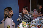 Sheherazade Goldsmith and Lisa Bilton. 'Pret-a-Portea'M.A.C. launches High Tea collection with British fashion designers. Berkeley Hotel. 17 January 2004. ONE TIME USE ONLY - DO NOT ARCHIVE  © Copyright Photograph by Dafydd Jones 66 Stockwell Park Rd. London SW9 0DA Tel 020 7733 0108 www.dafjones.com