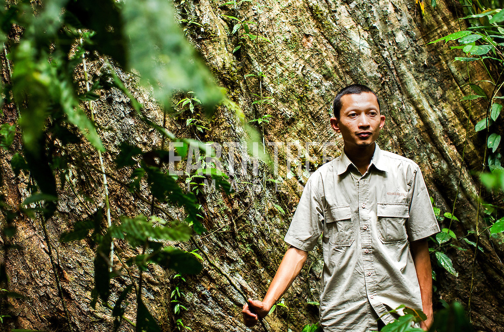 Rudi Putra, award winning conservationist and biologist pictured in the Leuser Ecosystem, Sumatra, Indonesia. Photo: Paul Hilton for Earth Tree