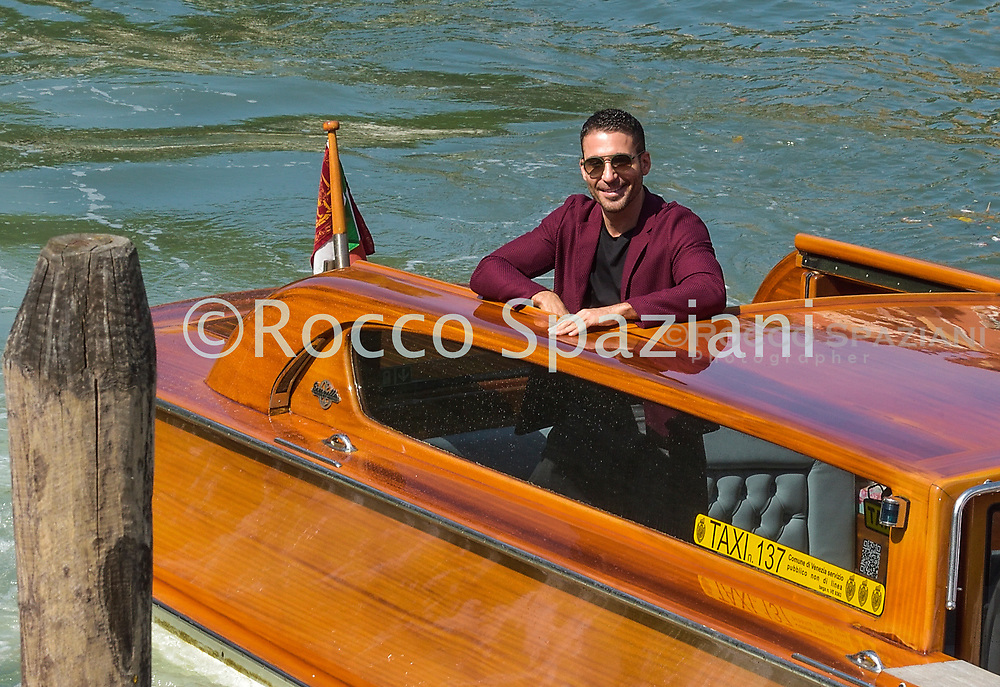 VENICE, ITALY - SEPTEMBER 11: Miguel Ángel Silvestre is seen arriving at the Excelsior during the 77th Venice Film Festival on September 11, 2020 in Venice, Italy. <br /> (Photo by Rocco Spaziani)
