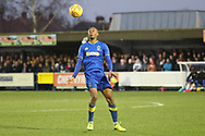 AFC Wimbledon midfielder Jimmy Abdou (8) controlling the ball during the EFL Sky Bet League 1 match between AFC Wimbledon and Blackpool at the Cherry Red Records Stadium, Kingston, England on 20 January 2018. Photo by Matthew Redman.