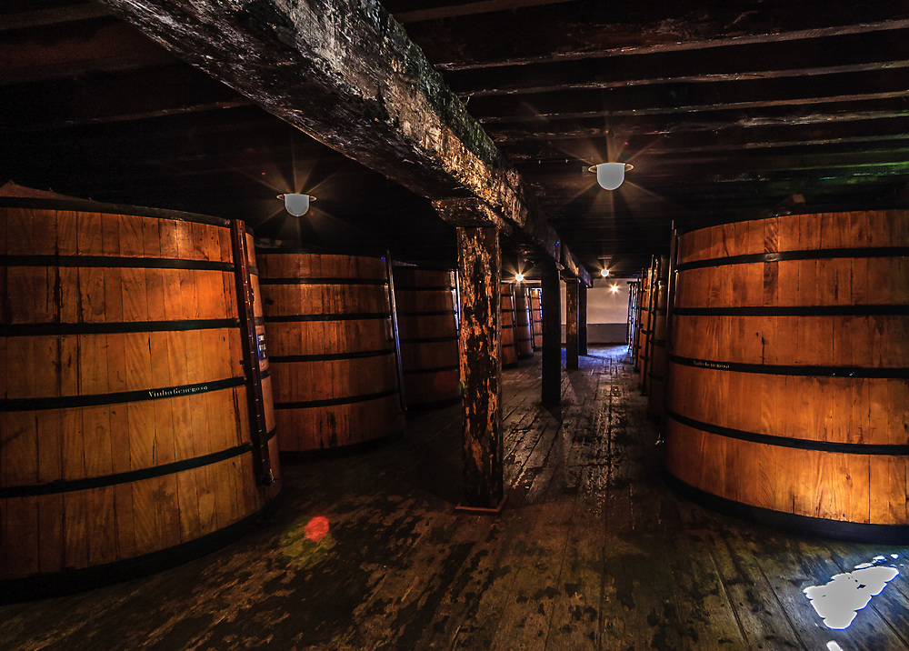 Madeira wine casks  in madeira winery in Funchal, Madeira.