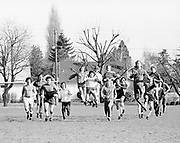 Four draft choices and 13 free agents stretch legs Monday afternoon during opening session of Portland Timbers pre-season practices at University of Portland. February 20, 1978