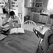 Erin works from home in communications managing clients' Covid-19 messaging but now has to pull double duty as a teacher managing her two kids' schoolwork under the Stay At Home order. Her daughter, Brooklyn, is in 3rd grade and son, Spencer, in 8th grade.