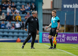 Ayr United's manager Ian McCall on the pitch. Dundee 1 v 0 Ayr United, Scottish Championship game played 10/8/2019.