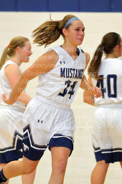 27 November 2017:  Blue Ridge Knights at Ridgeview Mustangs girls basketball at Ridgeview High School in Colfax Illinois.