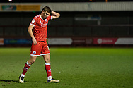 Crawley Town defender Jordan Tunnicliffe (#19) during the EFL Sky Bet League 2 match between Crawley Town and Walsall at The People's Pension Stadium, Crawley, England on 16 March 2021.
