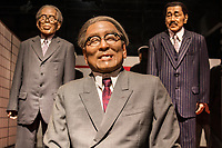 Japanese Statesmen at Heike Monogatari Wax Museum - The rise and fall of the Heike clan is reproduced in a massive scale using 260 wax figures, in seventeen scenes using historical dioramas. There is also a gallery introducing famous persons from Shikoku and Japan such as prime ministers, baseball players, enka singers and more.  This is the largest wax museum in Japan.  It's main theme, of course is the history of the genpei war, narrated by a lute playing priest.