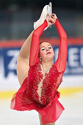 05.12.2015, Dom Sportova, Zagreb, CRO, ISU, Golden Spin of Zagreb, freies Programm, Damen, im Bild Niki Wories, Netherlands. // during the 48th Golden Spin of Zagreb 2015 ladys Free Program of ISU at the Dom Sportova in Zagreb, Croatia on 2015/12/05. EXPA Pictures © 2015, PhotoCredit: EXPA/ Pixsell/ Davor Puklavec<br /> <br /> *****ATTENTION - for AUT, SLO, SUI, SWE, ITA, FRA only*****