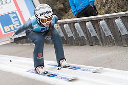 February 8, 2019 - Ljubno, Savinjska, Slovenia - Juliane Seyfarth of Germany on first competition day of the FIS Ski Jumping World Cup Ladies Ljubno on February 8, 2019 in Ljubno, Slovenia. (Credit Image: © Rok Rakun/Pacific Press via ZUMA Wire)
