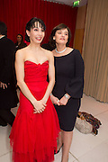 TAMARA ROJO; CHERIE BLAIR, Pre -drinks at the St. Martin's Lane Hotel before a performance of the English National Ballet's Nutcracker: London Coliseum.12 December 2013