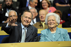 Former President George H.W. Bush and wife, Barbara, attend the Republican National Convention at the Xcel Energy Center in Saint-Paul, MN, USA on September 2nd, 2008. Photo by Olivier Douliery/ABACAPRESS.COM