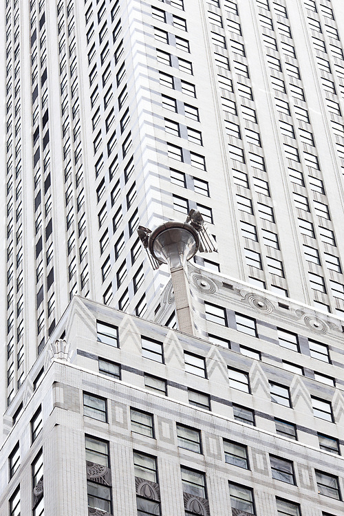 New York City, NY, United States - Detail of the exterior of Chrysler Building at midtown Manhattan.