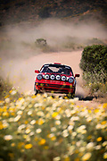 """Image of """"Red Sled"""" Porsche 964 competing in the 2017 NORRA Mexican 1000 Rally with the Rothsport Racing Team, Jeff Gamroth and Carl van Austen, drivers and navigators, Baja Peninsula, California del Sur, Mexico by Randy Wells"""