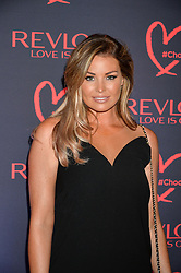 JESSICA WRIGHT at the Revlon Choose Love Masquerade Ball held at the V&A Museum, Cromwell Road, London on 21st July 2016.